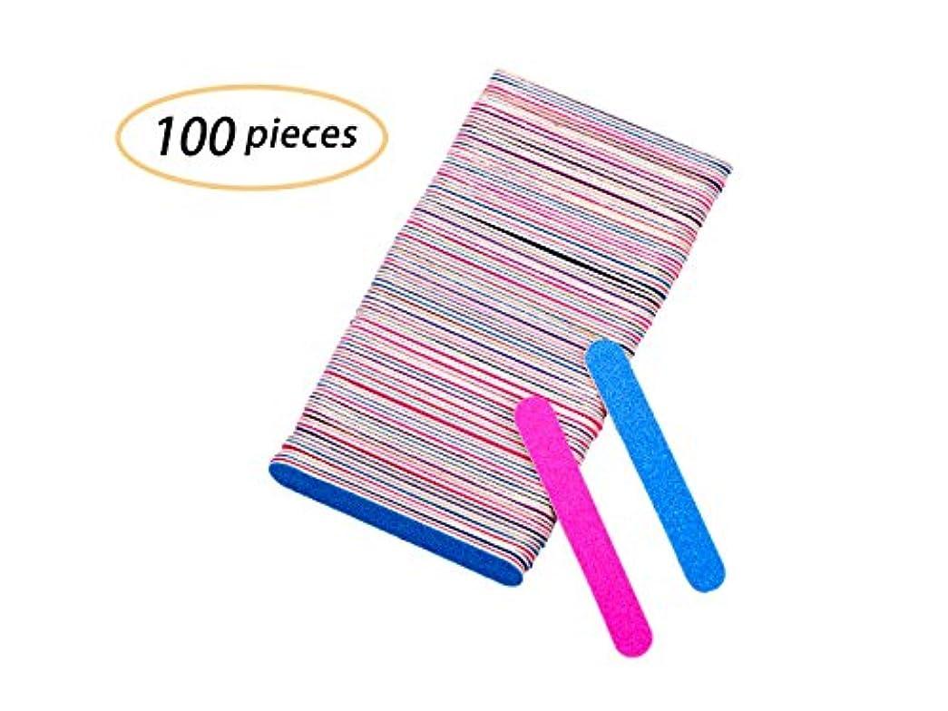 部分的嘆願煙Yolito 100pcs ネイルファイル エメリーボード 爪やすり使い捨て 爪磨き両面 ジェルネイル/自爪(180、240グリット)