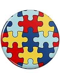 自閉症意識の多様性パズルピースピンバックボタンピンバッジ - 1
