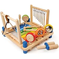 CP Toys Wooden Music Center with Melody Instruments / 10 pc. Set by Constructive Playthings [並行輸入品]