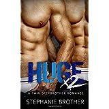 HUGE X2: A Twin Stepbrother MFM Menage Romance (HUGE SERIES)
