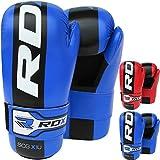 RDX Maya Hide Leather Taekwondo Gloves WTF Training Martial Arts Sparring TKD Punch Bag Mitts MMA Karate Fighting