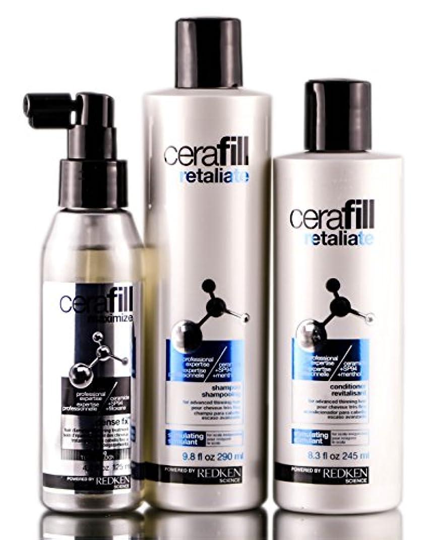 コインランドリー内部いうREDKEN レッドケンCerafillは、高度な薄毛のためのキットを報復します 4.2オンス