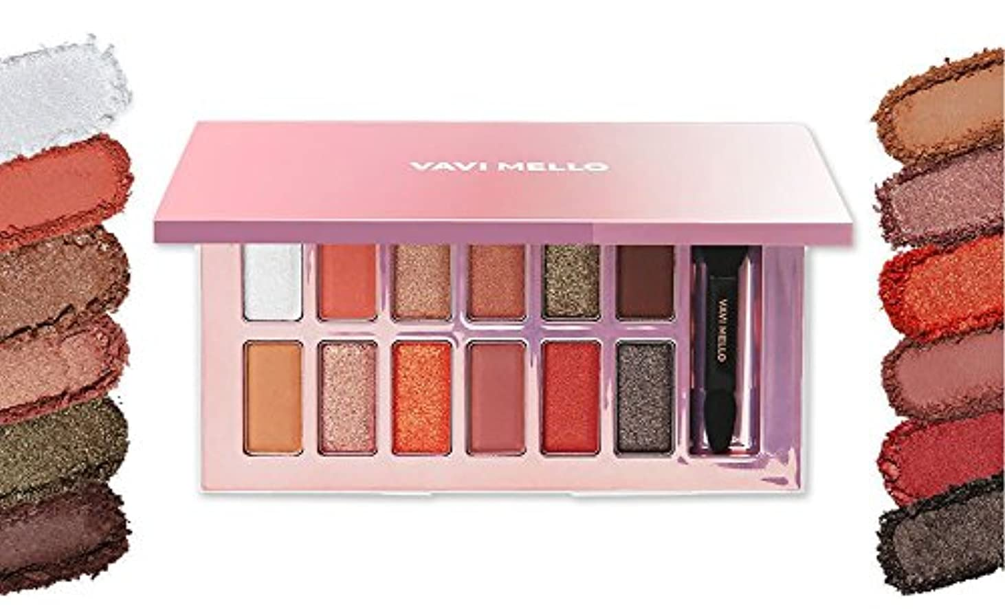 ギャラントリー自分レンダー[New] VAVI MELLO Valentine Box 2 ' Peach Palette ' 11g/バビメロ バレンタイン ボックス 2 ' ピーチ パレット ' 11g [並行輸入品]