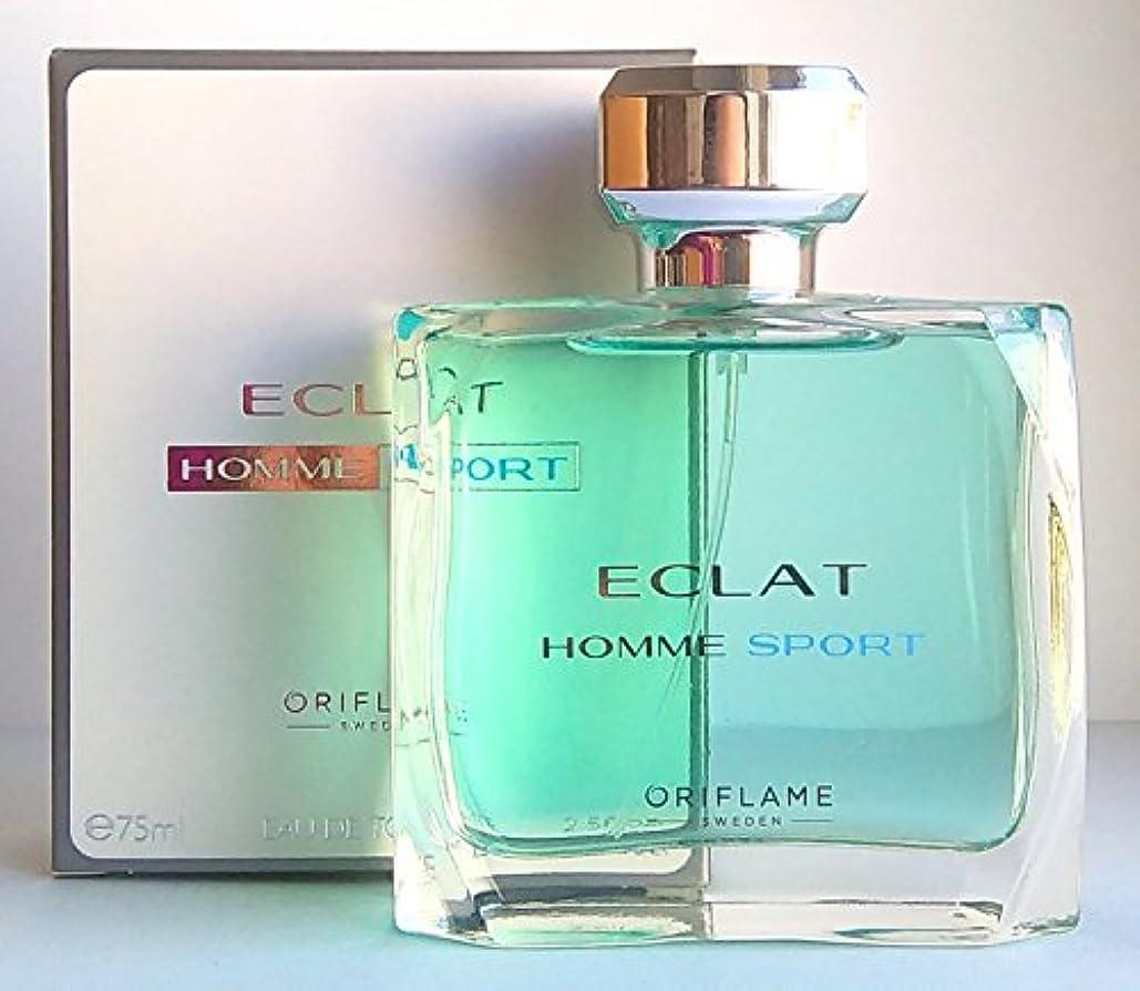 成長ケーブル悲惨なORIFLAME Eclat Homme Sport Eau de Toilette For Him 75ml - 2.5oz