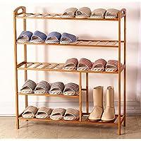 Hyun times シューズラックNanzhuソリッドウッド靴のスツールストレージシンプルでスタイリッシュなマルチ層の竹家計靴キャビネット ( サイズ さいず : 80*26*91cm )