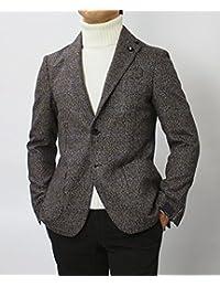 【アウトレット品】 ラルディーニ 国内正規品 EASY ウール ツイード グレンチェック 3B 2パッチ シングル ジャケット