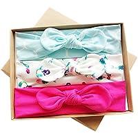 ocamo Headwear £¬ Infant Baby Girl Lovelyリボン付きヘアバンドヘアアクセサリーwithギフトボックス£¬ 3個 40-56CM LSY-20180529-J6FAECA9CBD