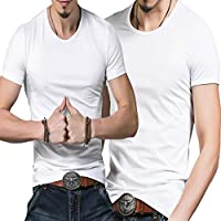 【 男 魅せる デザイン は  己の筋肉で物語る 】[エムシービーエム] メンズ Tシャツ 1枚 & 2枚セット 白 黒 大きいサイズ あります
