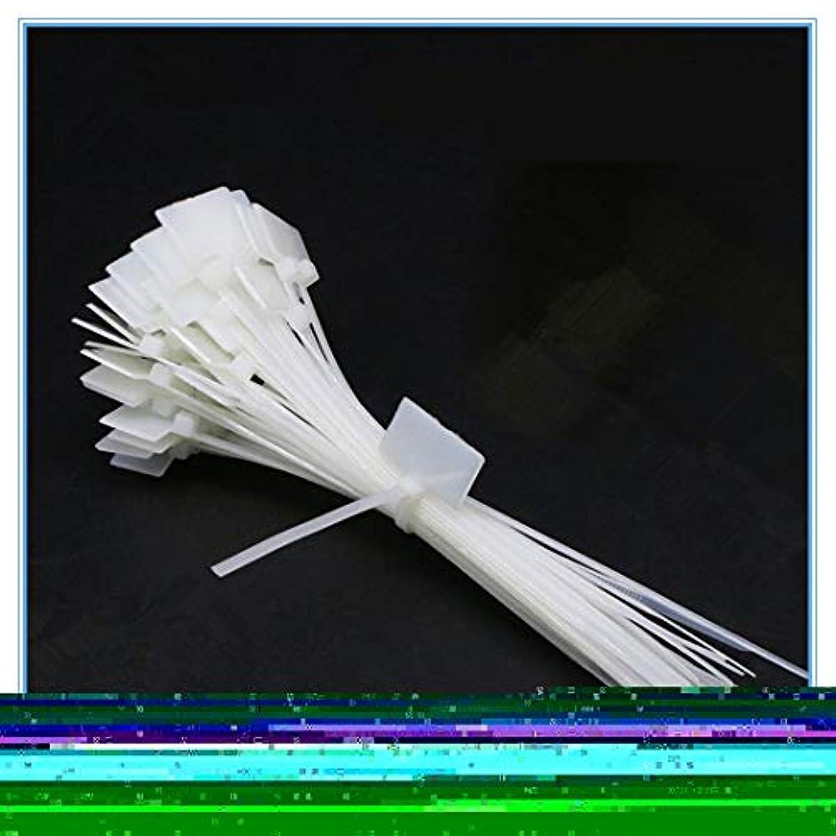 社会主義勘違いするギャングケーブルタイ 50pcsのナイロンタイタグセルフロックネットワークケーブルジップトリムラップループワイヤーストラップラベル JPLLYY (Color : 白, Size : 4x150mm)