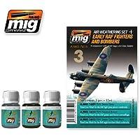 AmmoのMig Jimenez RAF FightersとBombersセット3 Jars 35 ml # 7416