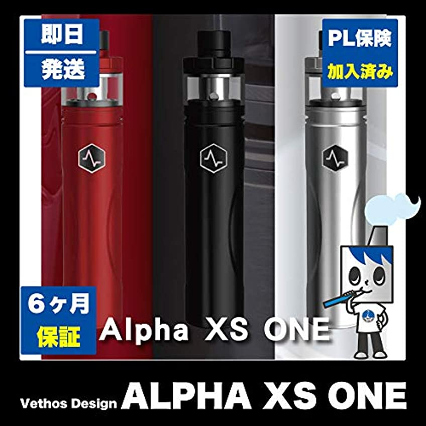 たらい南極神経衰弱【初めてのVAPEに最適】 国内メーカー Vethos Design ALPHA XS ONE KIT スターターキット(専用本革ケース、日本語説明書付き) (BLACK)