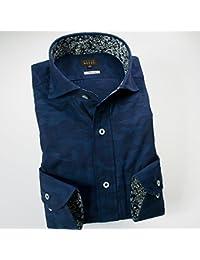 (スタイルワークス) メンズ長袖ワイシャツ カッタウェイ ワイドカラー | 青