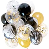 MagiDeal Pack of 20 Agate Foil Confetti Latex Balloons Wedding Birthday Party Decorations 12 inch - Gold, 12 inch