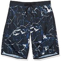 A|X Armani Exchange Men's All-Over Ocean Marble Print Swim Shorts