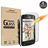 (Pack of 4) Tempered Glass Screen Protector for Garmin Edge 520, AKWOX 0.3mm 9H Hard Scratch-Resistant Protector for Garmin Edge 520