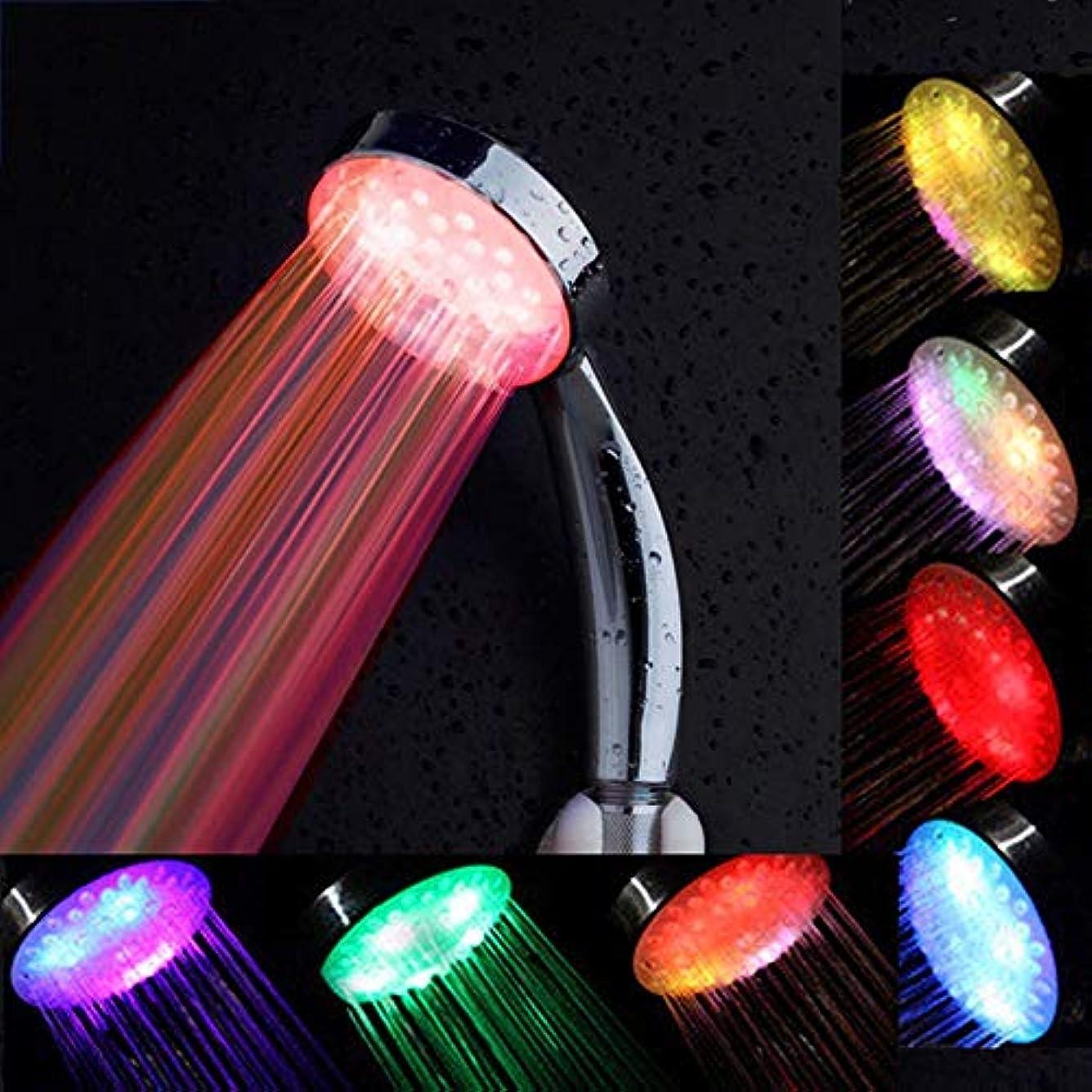 アテンダント記念オペレーターLEDシャワーヘッド、手持ち式シャワーヘッド7色手持ち式高圧力スパシャワーヘッドスプリンクラーシャワーシャワーヘッド
