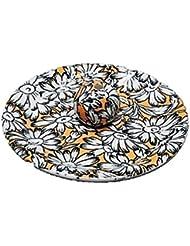 9-31 マーガレット オレンジ 9cm香皿 お香立て お香たて 陶器 日本製 製造?直売品