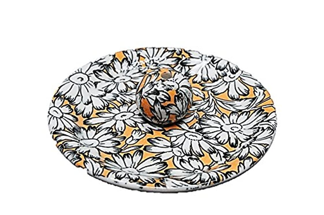 囲いもし恥ずかしい9-31 マーガレット オレンジ 9cm香皿 お香立て お香たて 陶器 日本製 製造?直売品