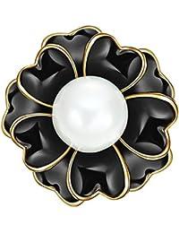 Demarkt美しいレディースDaisy Flower Withパールアールデコブローチ(ホワイト)