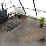 フロアタイル 貼るだけ フローリングタイル [72枚セット/グレージュオーク No.6] 約6畳分 フローリングシート シールタイプ 床材 木目調 ウッド 接着剤付き DIY セルフリフォーム [並行輸入品]