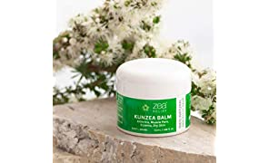 Zea Relief Kunzea Balm - 100% Natural Pain Relief Balm. May help to relieve Arthritis, Muscle Pain, Joint Swelling, Eczema, Psoriasis, Skin Inflammation and Dry Skin [Australian Made; NO Parabens, NO Animal Testing, Non-Burning]