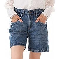 [Happy Honu(ハッピー ホヌ)] デニム ショート パンツ 大きいサイズ レディース M ~ 4L