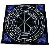 RELIGHT ペンデュラム ダウジング マット ベルベット 刺繍 ホロスコープ 星座 占い (ブルー)