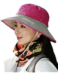 Heaven Days(ヘブンデイズ) 登山帽 ハット 帽子 あご紐 日除け メッシュ バイカラー フリーサイズ レディース 1807F0135