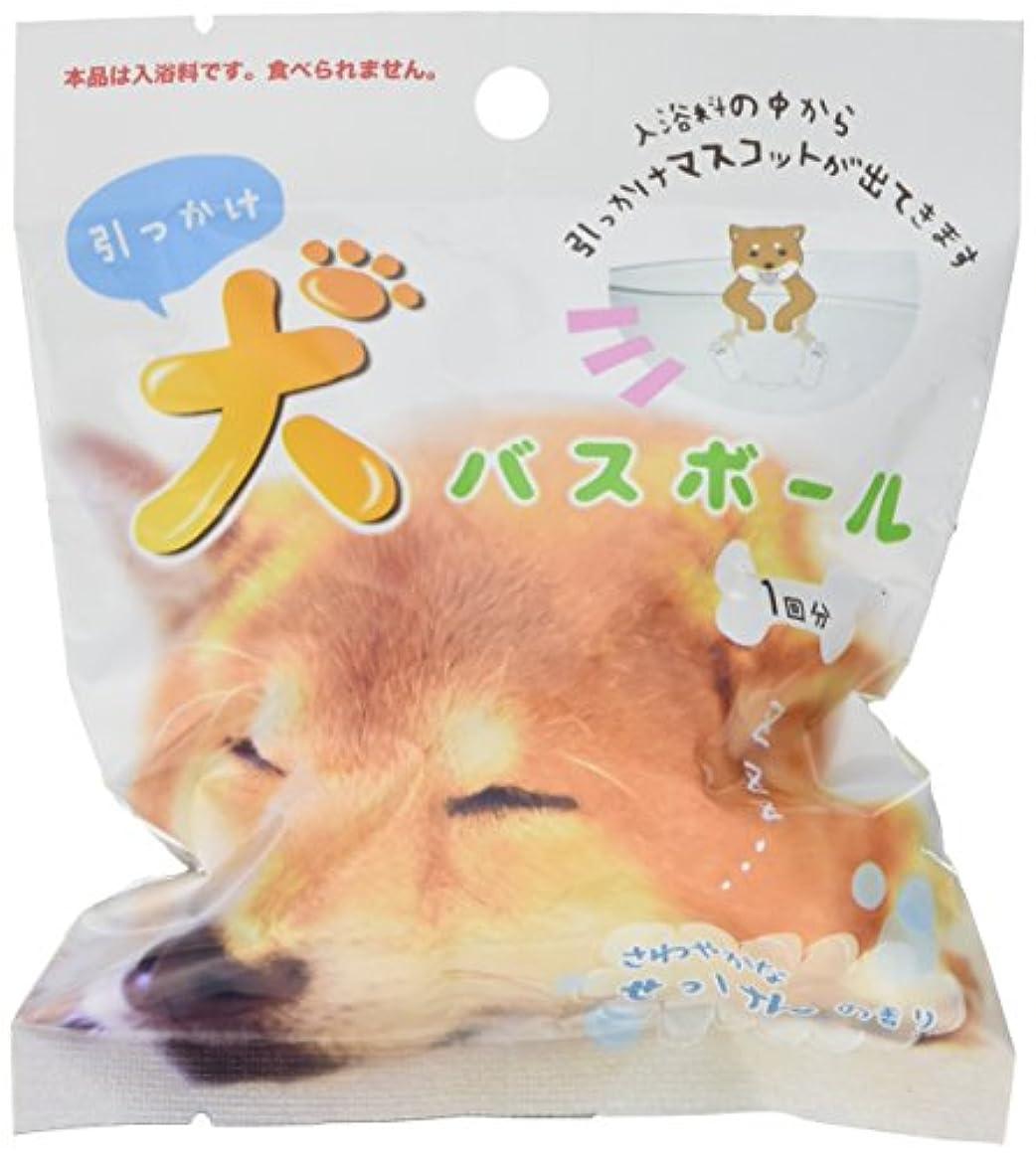 フロント咳魅力的引っかけ犬 バスボール せっけんの香り 80g 1個入