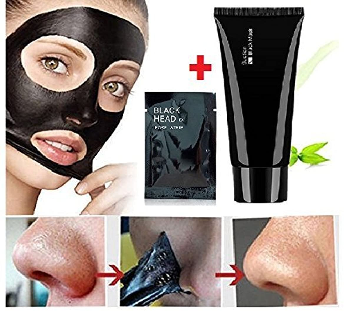 解釈的ミトン化学者Face Apeel Deep Cleansing Pimple Remover Acne Black Mask + Pore Strip