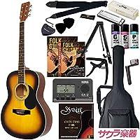 HONEY BEE アコースティックギター フォークギタータイプ F-15M/TS マットフィニッシュモデル 初心者入門16点セット