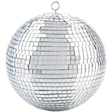 Alytimes Mirror Disco Ball - 8-Inch Cool and Fun Silver Hanging Party Disco Ball -Big Party Decorations, Party Design
