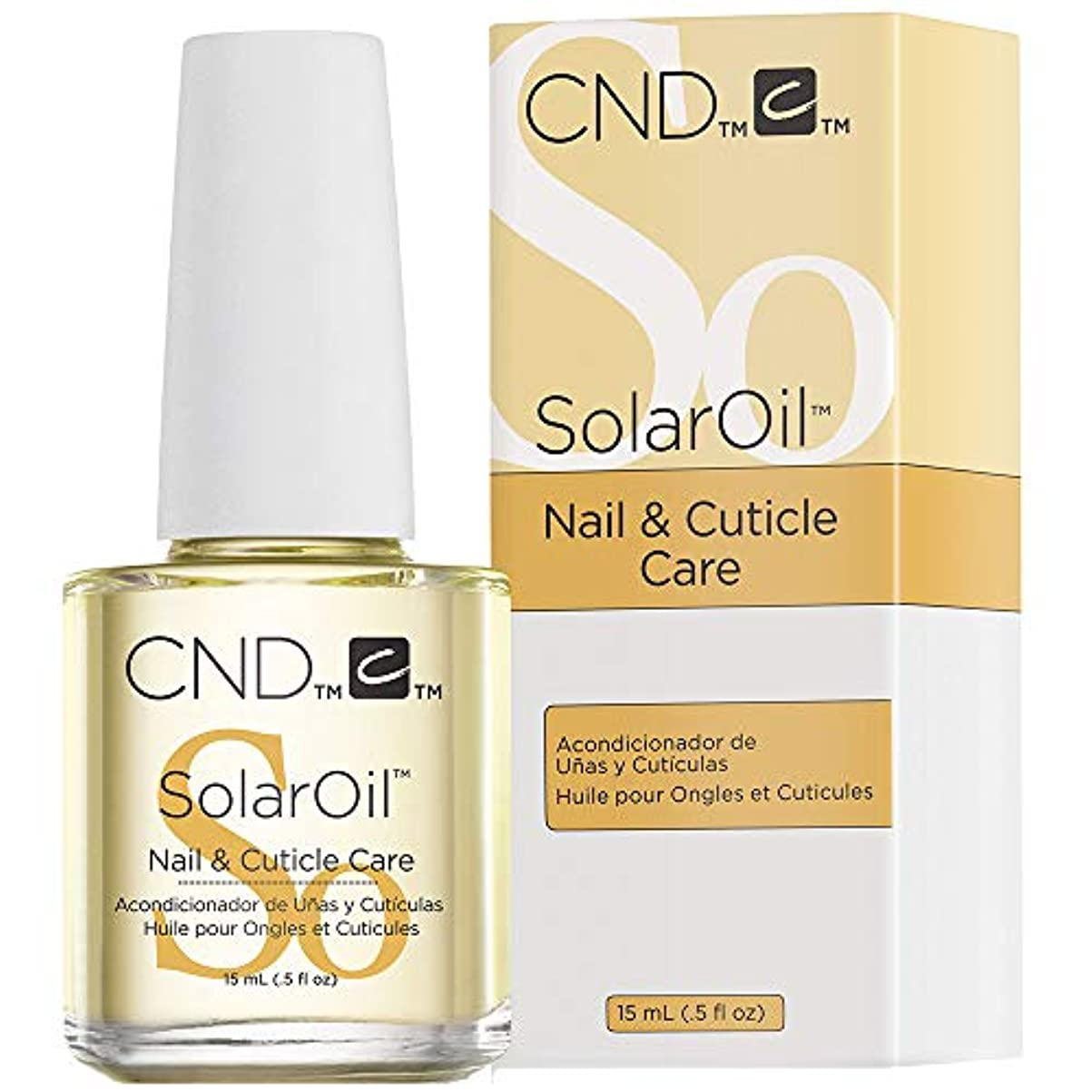 ポンペイ落胆する癒すCND solar Oil nail and cuticle conditioner 15ml