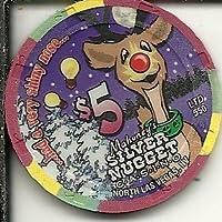$ 5 Mahoney 'sシルバーナゲットトナカイラスベガスカジノチップObsolete