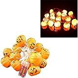 ハロウィン 光るカボチャ LEDストリングライト フラッシュ クラブパーティー用 装飾用 おもちゃ 恐怖小道具 プレゼント 16個セット