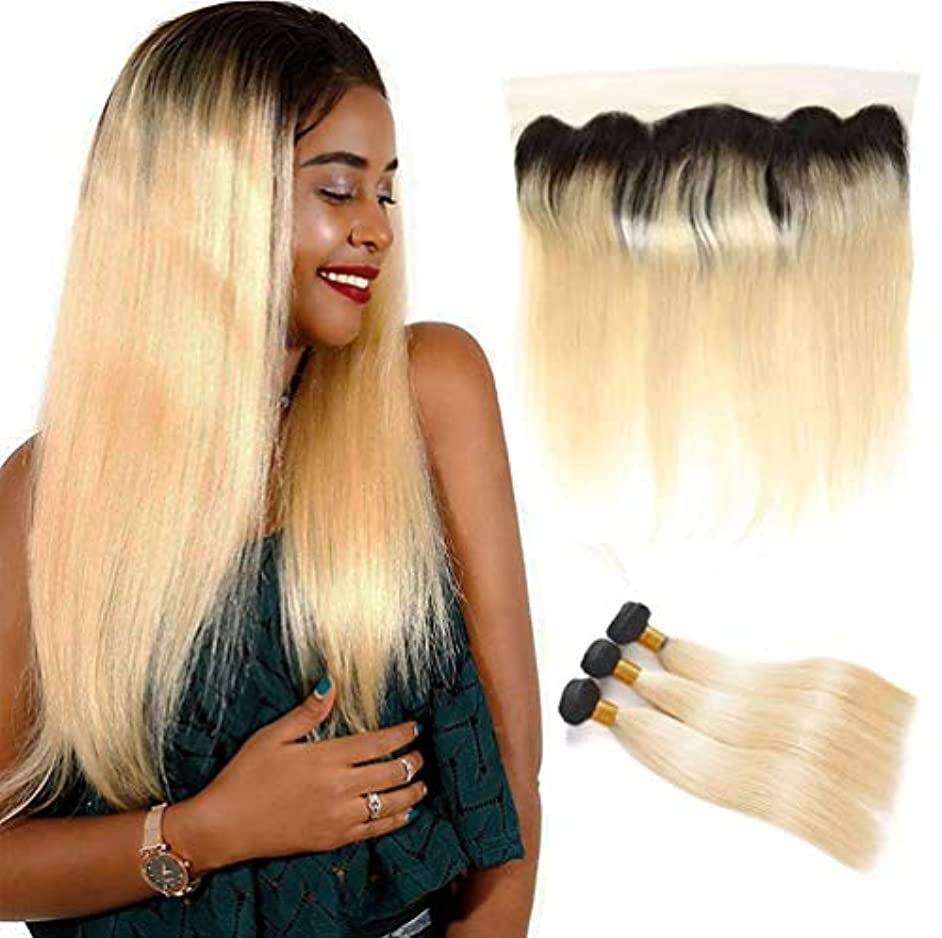 名前で教養があるボーナスグラデーション女性ブラジルの人間の髪の束と閉鎖ストレートリアルレミー自然髪織りエクステンション横糸3バンドル+ 1クローズ