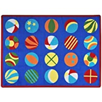 Joy Carpets Kid Essentials Early Childhood Have A Ball Rug Multicolored 7'8 x 10'9 [並行輸入品]
