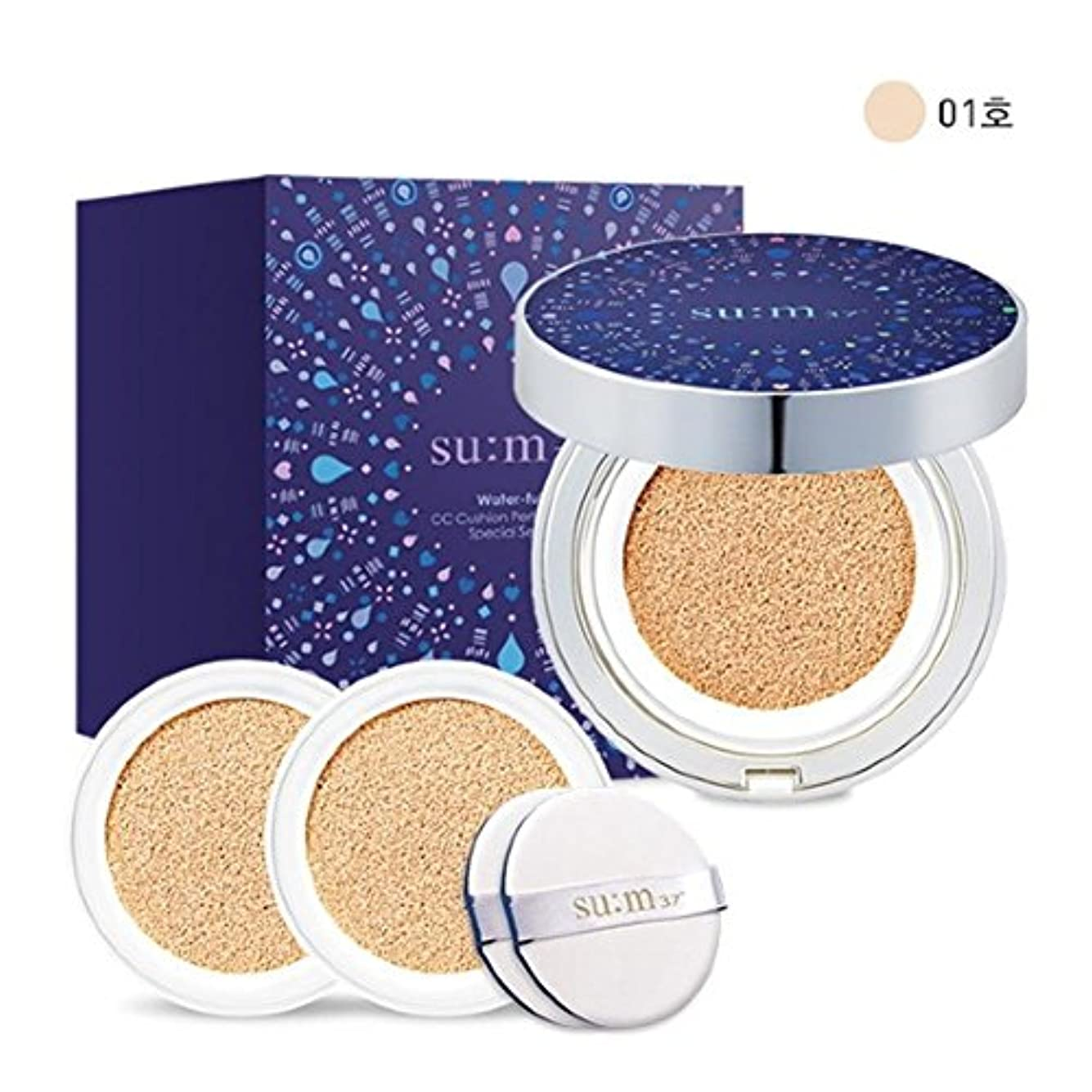 苛性排他的水星[su:m37/スム37°]Water Full CC Cushion Limited Edition Perfect finish No. 1 (SPF50+/ PA+++) / 水プール CCクッションパーフェクトフィニッシュ...