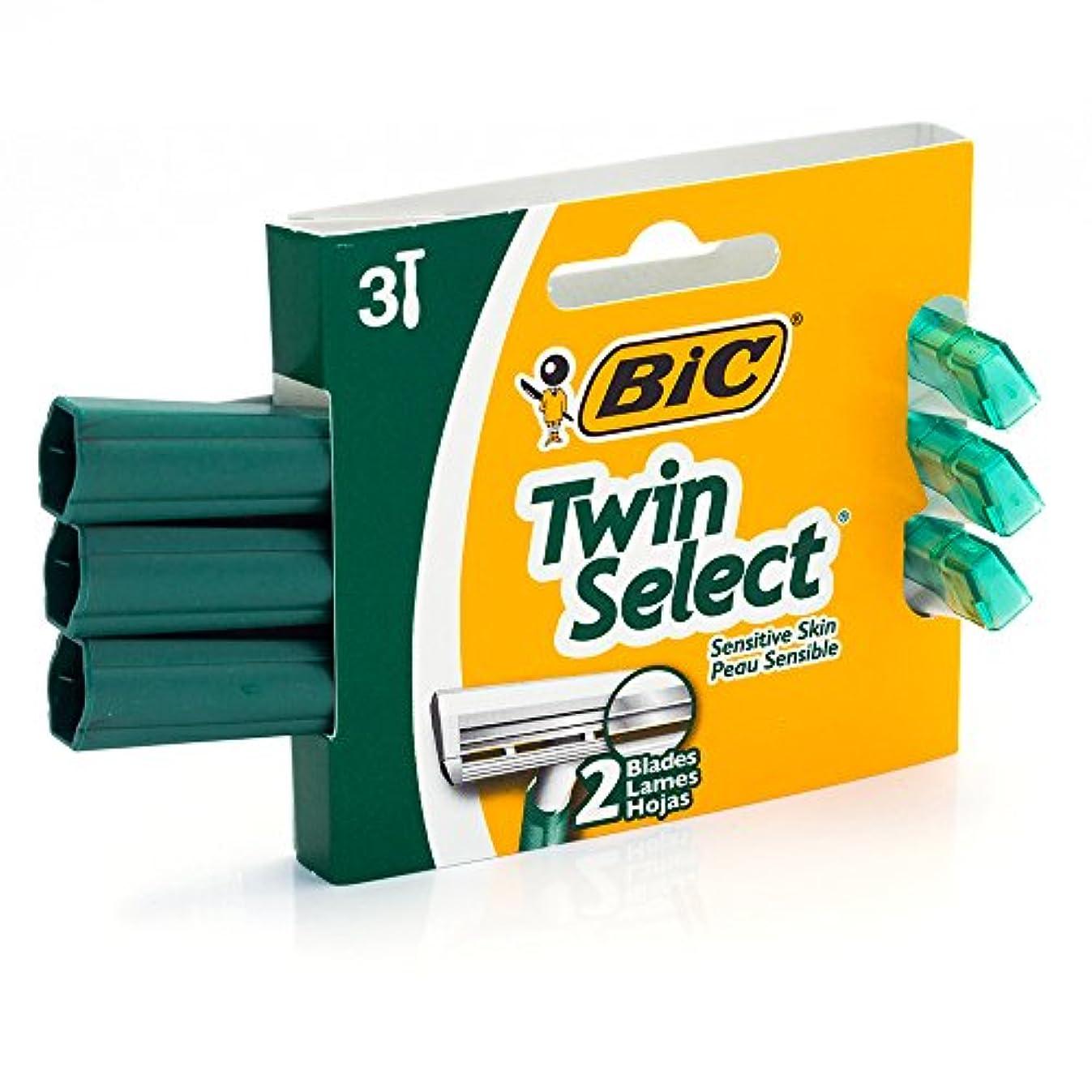 ボーナス寮直立BIC ビックカメラツインセレクト敏感肌、3カウント(4パック)