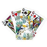 水彩Toucan低木パイナップルParrot Poker PlayingカードTabletopボードゲームギフト