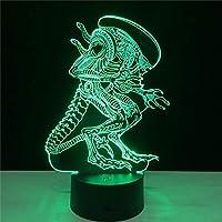 (エイリアンVSプレデター) Alien Vs Predator 3D照明ムードランプ 7色に変化するランプラマラ ナイトライトギフト 赤ちゃん/子供/誕生日/ハロウィン/クリスマスに