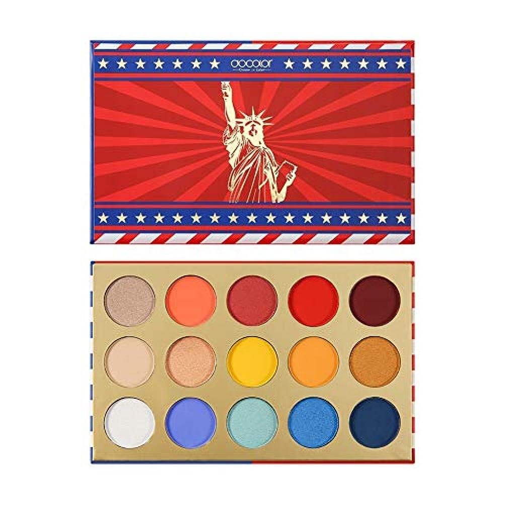 トピック一掃するキャンバス15色 国旗 アイシャドウパレット 防水 防汚 カラーファスト マット シマー アイシャドウ Cutelove