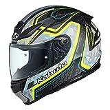 オージーケーカブト(OGK KABUTO)バイクヘルメット フルフェイス SHUMA FROZE(フローズ) フラットブラックイエロー (サイズ:XL)