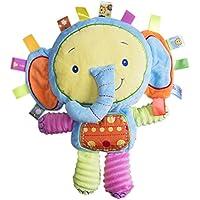 Happyハッピー耳 ベビーベッド ベビーカー用おもちゃ 音鳴り 鈴を振る玩具 可愛い動物ぬいぐるみ 知育玩具 視覚 聴覚に刺激 出産お祝い プレゼント (象)
