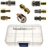 NooElec SMAアダプタ接続キット–セットof 8のアダプタNESDRスマート(rtl-sdr)、その他のSMAソフトウェア定義無線機W/ポータブル携帯ケース