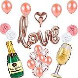 Faironly ロマンチック アルミホイルバルーンセット ウェディングパーティー シーン小道具 装飾 YWQ-20190218WJ-A-487