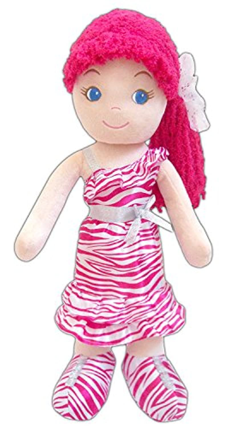 GirlznDollz Leila Glam Girl - Zebra Print Baby Doll Dark Pink/White [並行輸入品]