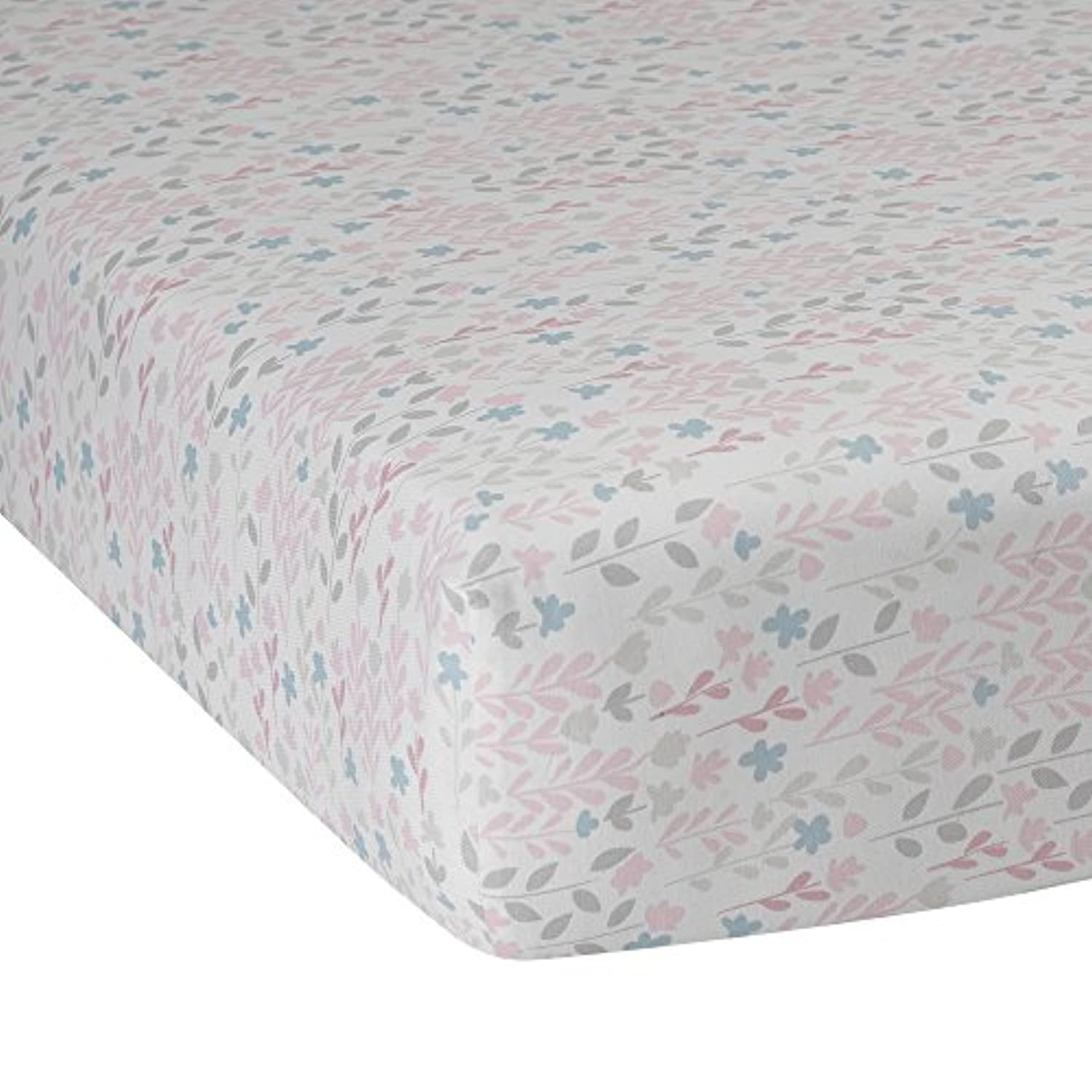 Lambs & Ivy Mix and Match Layla Coral Fleece Blanket, Flower Print by Lambs & Ivy