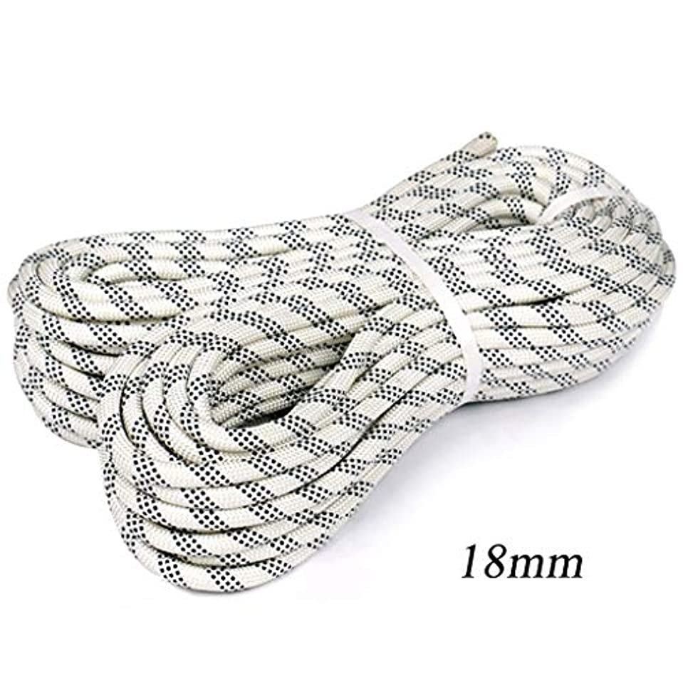 考える現実去るロープ(張り綱) 安全ロープ屋外用固定ロープ下り坂/屋外開発/空中作業に適していますΦ18mm(0.7in)白黒ライン (Size : 40m(131ft))