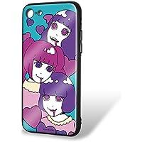 hare. iPhone8 ケース ガラスプリントTPU ハートC (hr-013) スマホケース カバー WN-LC535945